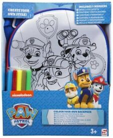 Paw patrol boys backpack and pyjamas