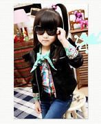 Toddler Black Leather Jacket