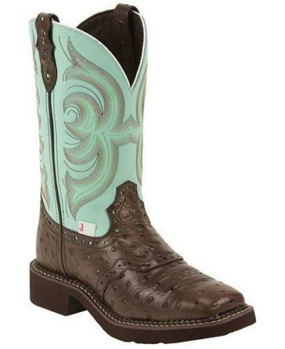 womens justin square toe boots ebay