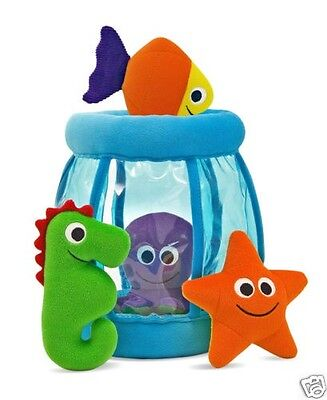 Spill Plush Baby Toy - First PlayDeluxe Fish Bowl Fill and Spill Soft baby toy plush by Melissa & Doug