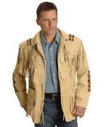 Beaded Fringed Leather Jacket