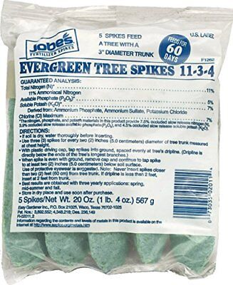 Jobe's Evergreen Tree Fertilizer Spikes 11-5-7 Time Release Fertilizer for Everg Evergreen Tree Fertilizer Spikes