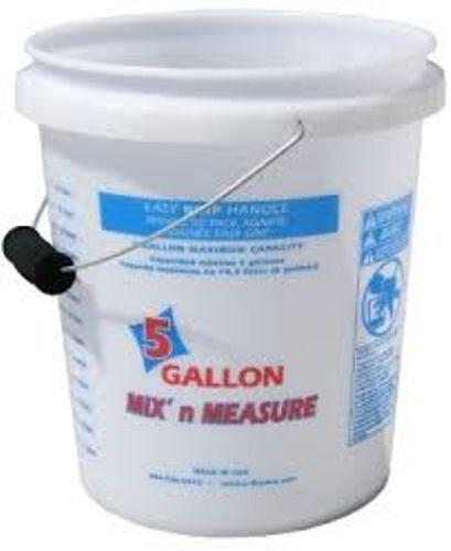 5 Gallon Clear Measuring Bucket  / Foam Grip