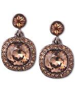 Brown Topaz Earrings