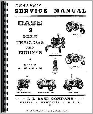 Case S Sc So Si Tractor Service Repair Manual With Or Without Eagle Hitch