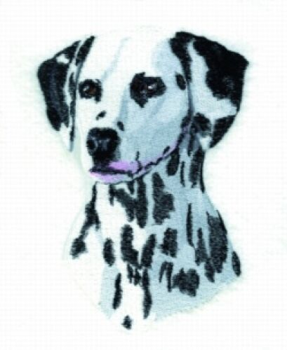 Large Embroidered Zippered Tote - Dalmatian BT4481
