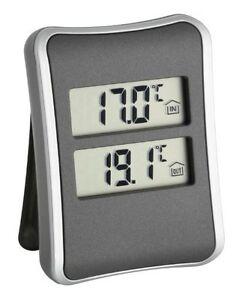 TFA 30.1044 Digital Indoor/ Outdoor Thermometer - Black