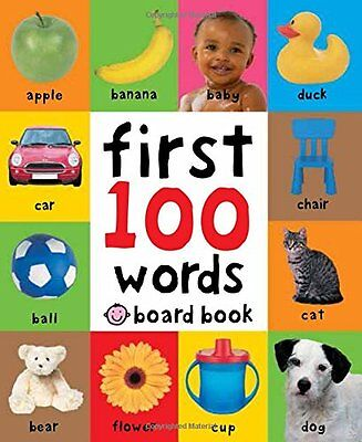 First 100 Words Children Books Early Learning Board Toddlers Baby Kids Gift New