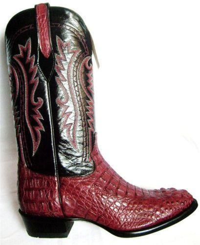 Caiman Alligator Boots Ebay