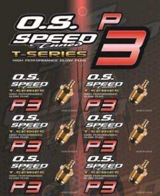 O.S Speed Glow Plug P3 24k Gold For Turbo Engine 6pcs Engine Turbo Plug