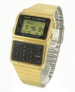 Casio Calculator Watch Gold