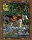 Horse Fabric Panel
