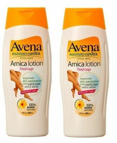 2 Packs AVENA 100% Natural Arnica Lotion Cooling Tired Legs
