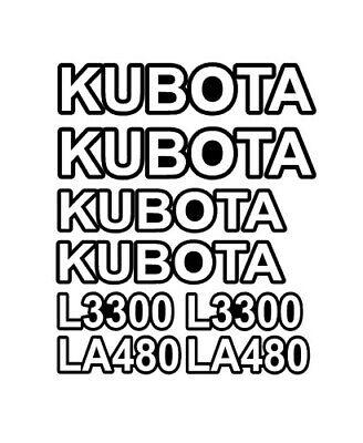 L3300 Kubota Loader Backhoe Tractor Vinyl Decals Sticker Set La480 La L 3300 480