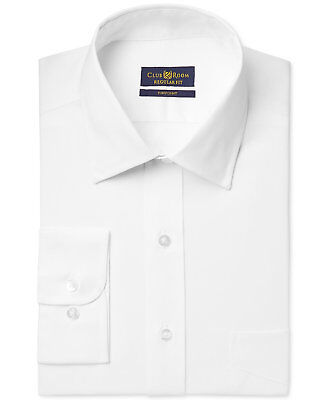 $95 CLUB ROOM Men's REGULAR-FIT WHITE LONG-SLEEVE BUTTON DRESS SHIRT 16 32/33 L Club Room White Dress Shirt
