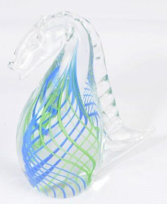 Home Design Glass Sculpture (M Design Art Glass Rainbow Huge Seahorse Sculpture)