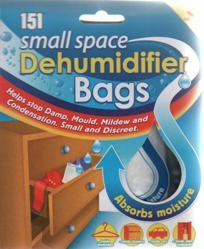 Small Space Dehumidifier Bags Sachet Pack Mould Mildew Damp
