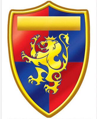 MEDIEVAL CREST wall sticker 1 BIG decal Renaissance knight shield Lion (Medieval Crest)