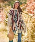 Christmas Sweaters for Women's Regular Size Poncho Sweater