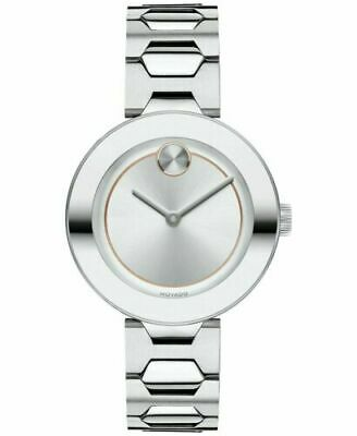 NEW Movado Swiss Bold Women's Luxe Stainless Steel Watch 32mm 3600381 $595 NWT