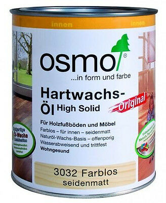 osmo hartwachs l original farblos seidenmatt 10 l top neuware ebay. Black Bedroom Furniture Sets. Home Design Ideas