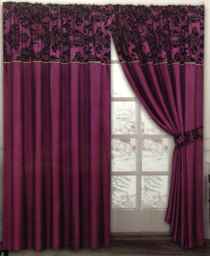 Purple Damask Curtains Ebay