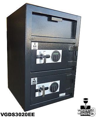 2 Door Depository Drop Safe Cash Digital Safes A REAL SAFE -FREE SHIPPING!