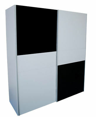 Black wardrobe with sliding doors