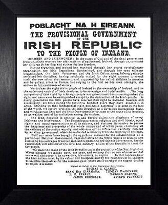1916 PROCLAMATION OF THE IRISH REPUBLIC EASTER UPRISING IRELAND FRAMED PRINT 121
