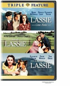 LASSIE TRIPLE - COME HOME SON OF LASSIE COURAGE OF LASSIE ELIZABETH TAYLOR R4