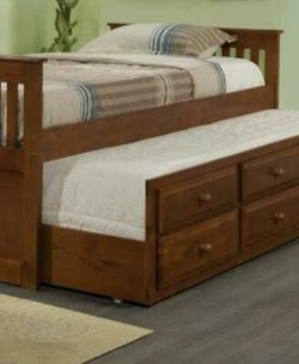 Connor Twin Captains Bed with Trundle and Storage Twin Captains Bed Trundle