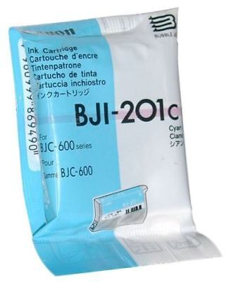 GENUINE AUTHENTIC CANON BJI-201C CYAN INK CARTRIDGE