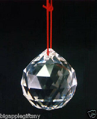"""40mm 1.5"""" FENG SHUI HANGING CRYSTAL BALL Sphere Prism Rainbow Sun Catcher NEW"""