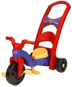 Fisher price tricycle with push bar