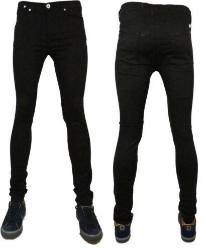 Mens Black Super Skinny Jeans | eBay