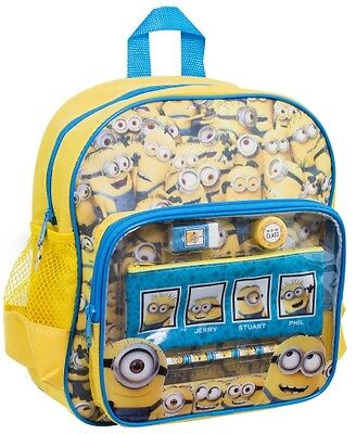 Despicable Me Minions Stationery Filled' School Bag Rucksack Backpack New Gift