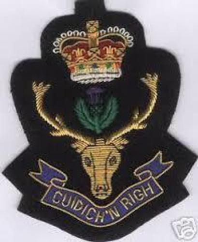 Britain BEF England Queen Clan Scots Highlander Army War Patch Regiment Scotland
