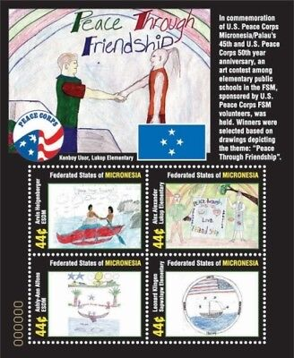 Micronesia- Peace Corps 50th Anniversary Stamp Sheet of 4