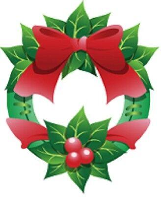 30 Custom Mistletoe Wreath Personalized Address Labels