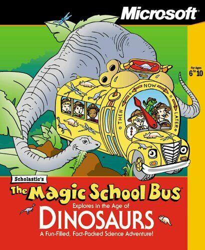 Computer Games - Magic School Bus Explores Age of Dinosaurs -- Home School Windows Computer Game