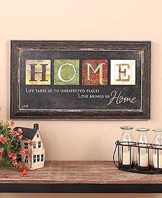 Home Country Primitive Americana Inspirational Wall Art Rust