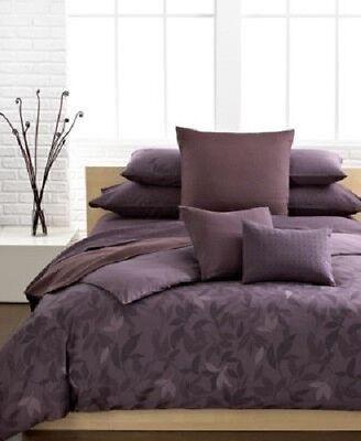 New Calvin Klein Prune Elm Twin Comforter Set w/ Sham Plum (Elm Comforter Set)