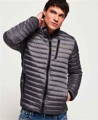 Superdry Core Down Jacket Grey Mens Small New