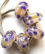 Lampwork Purple Glass Beads