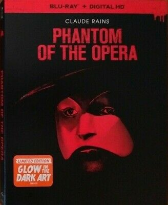 PHANTOM OF THE OPERA 1943 New Sealed Blu-ray with Glow in the Dark Slipcover