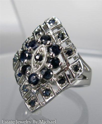 genuine blue sapphire ring ebay. Black Bedroom Furniture Sets. Home Design Ideas