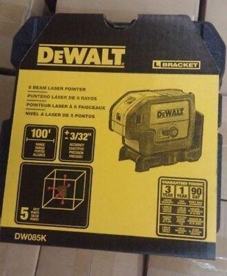 Dewalt Dw085k 5 Beam Self Leveling Laser Pointer - Dw085k