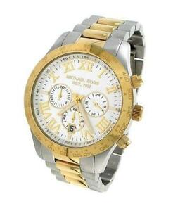 michael kors men s watch in gold michael kors men two tone watch