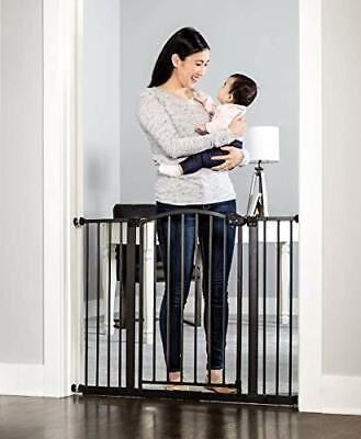 Regalo Easy Step Arched Décor Walk Thru Baby Gate Bronze