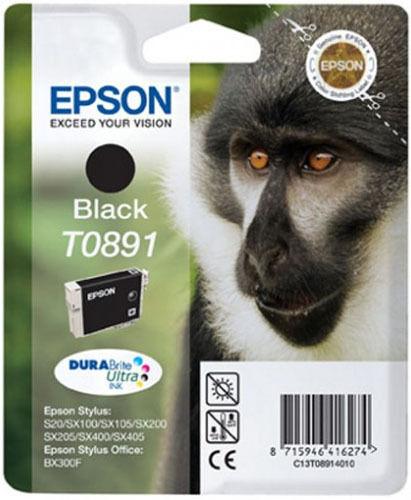 Original Epson T0891 Monkey DuraBrite Ultra Black Ink Cartridge T089140